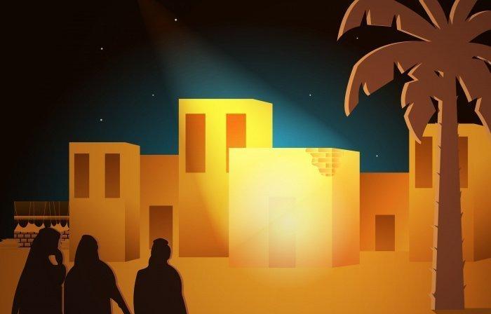 Люди приходили к дому Пророка (с.а.с.) слушать чтение Корана.