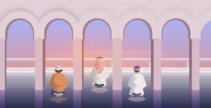 Если человек опоздал на молитву, ему следует начать молитву с того действия, на котором находится имам.
