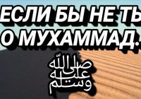 Если бы не ты, о Мухаммад ﷺ!