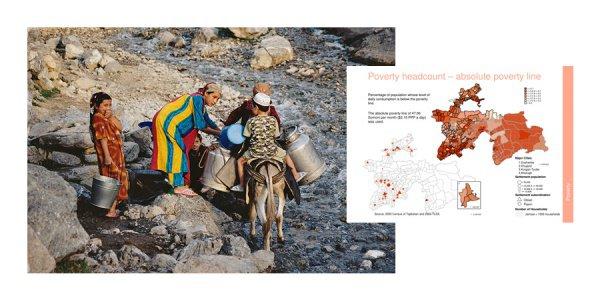 Карта абсолютной бедности в Таджикистане