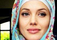 Анджелина Джоли в хиджабе