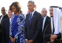 Мишель Обама без хиджаба шокировала Саудовскую Аравию (ФОТО)