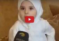 3-летняя девочка знает наизусть 37 аятов Корана. Удивительно!
