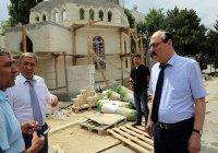 Глава Дагестана посетил строящиеся мечеть и церковь