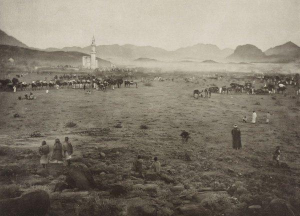 Паломники возле горы Арафат в 1887 году.