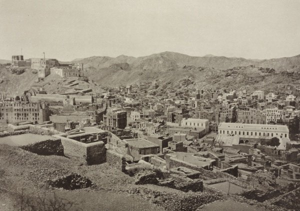 Мекка в 1887 году. На заднем плане видна крепость Джияд.