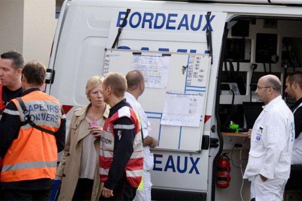 Появилось первое видео с места ДТП во Франции.
