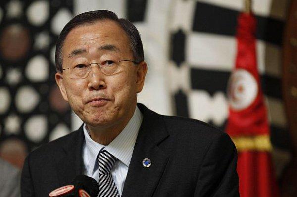 Пан Ги Мун (Ban Ki-moon) оставил свою запись в книге соболезнований в постпредстве России при ООН