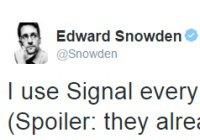 Сноуден рассказал, каким мессенджером он пользуется