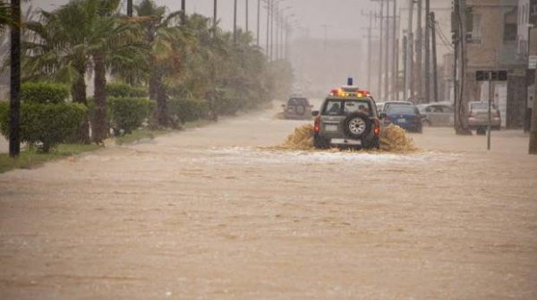 Проливные дожди накрыли часть Саудовской Аравии накануне