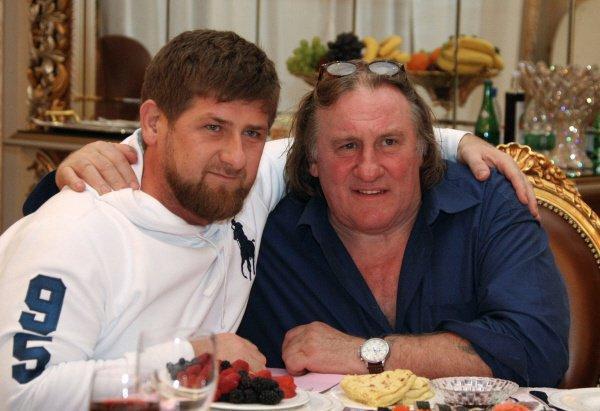 Жерар Депардье с главой Чечни Рамзан Кадыровым