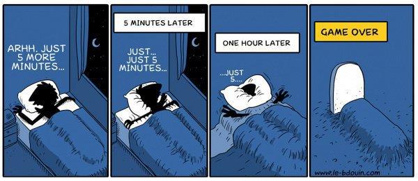 Еще пять минут, еще пять...