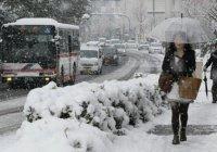 На японском острове Амами-Осима впервые за 115 лет выпал снег