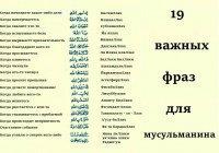 19 важных фраз для мусульманина
