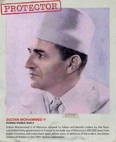 Король Марокко Мохаммед Пятый отказался выполнить требование Франции лишить евреев всех прав.
