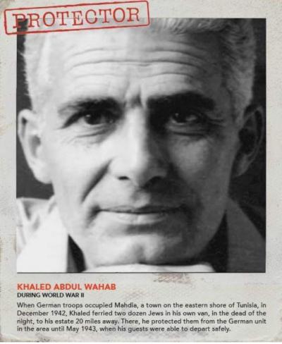 Халид Абдул Вахаб из Туниса спрятал в собственном грузовике больше двадцати евреев и спас их от германских войск.