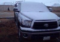 Жители Кувейта увидели снег впервые в своей жизни