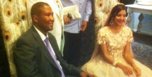 Свадьба состоялась в Кейптауне, ЮАР.