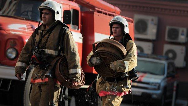 В Саратове в воинской части произошел пожар.