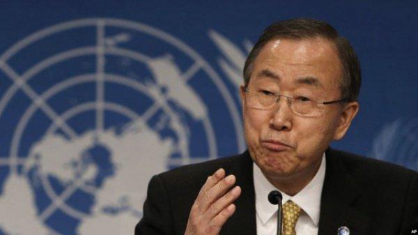 Пан Ги Мун озвучил очередной доклад по Сирии.