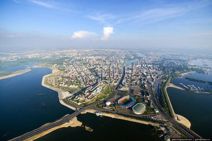 30 фотографий Казани с высоты птичьего полета