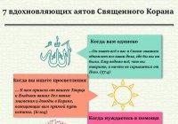 ИНФОГРАФИКА: 7 вдохновляющих аятов Священного Корана