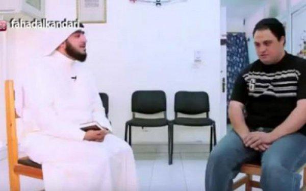 Абдульуахаб Абдульлатиф с преподавателем.