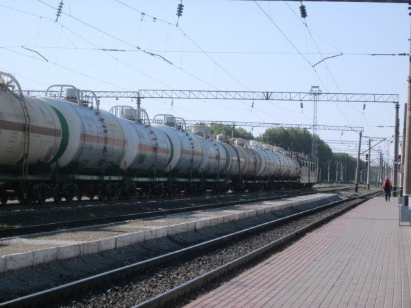 В Ижевске столкнулись автобус и поезд.