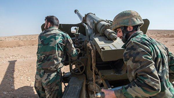 Сирийская армия продолжает наступление на ИГИЛ.