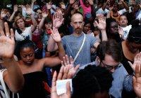Американцы устроили масштабную акцию протеста против расстрела мусульманина