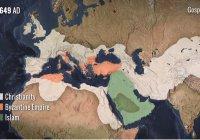 Создана анимированная карта распространения ислама (Видео)