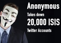 Twitter удалил аккаунты хакеров Anonymous, объявивших ИГИЛ кибервойну