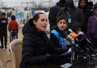 Анджелина Джоли побывала в лагере сирийских беженцев в Ливане (Фото, видео)