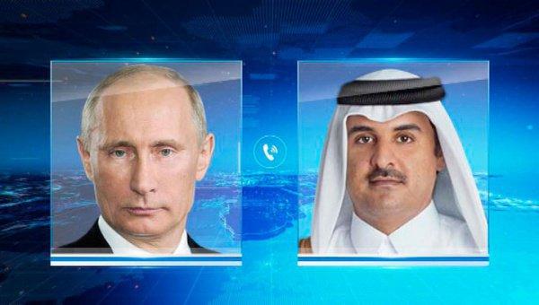 Телефонный разговор Владимира Путина и эмира Катара.