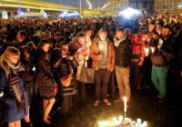 Мусульмане вышли на траурный митинг в Брюсселе