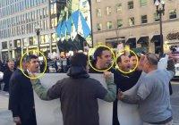 Охрана Эрдогана попыталась перекричать противников турецкого лидера в США (Видео)