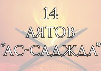 14 аятов, при прочтении которых совершается земной поклон