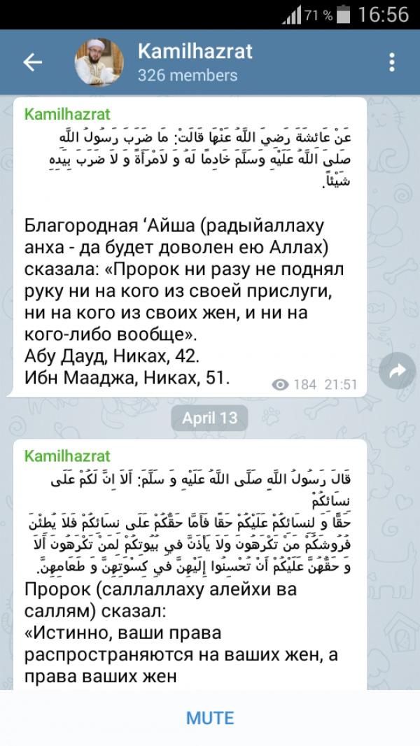Муфтий РТ запустил свой канал в Telegram