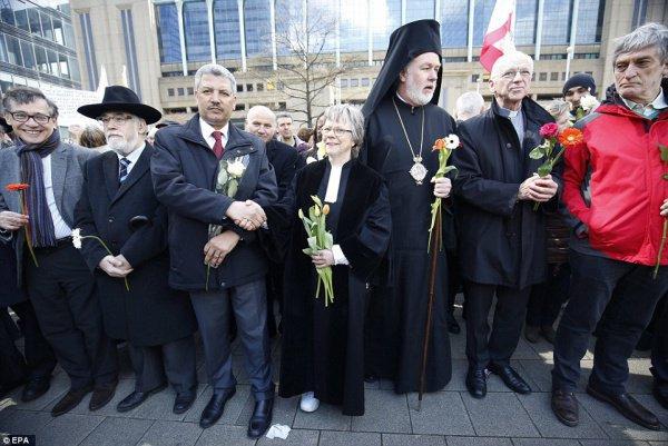 Представители религиозных общин Бельгии.