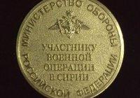 10300 медалей для участников операции в Сирии изготовят в РФ