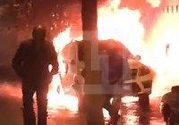 Автомобиль известного религиозного деятеля взлетел на воздух (Видео)