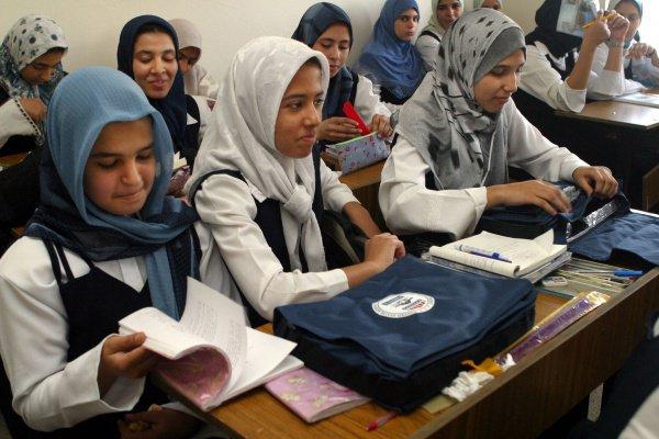 Экзамены в школах Ирака.
