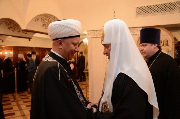 Муфтий Москвы и глава РПЦ на встрече в 2014 году.