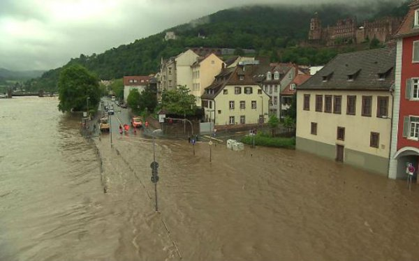 Наводнение на юге Германии