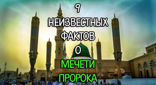 9 неизвестных фактов о мечети Пророка