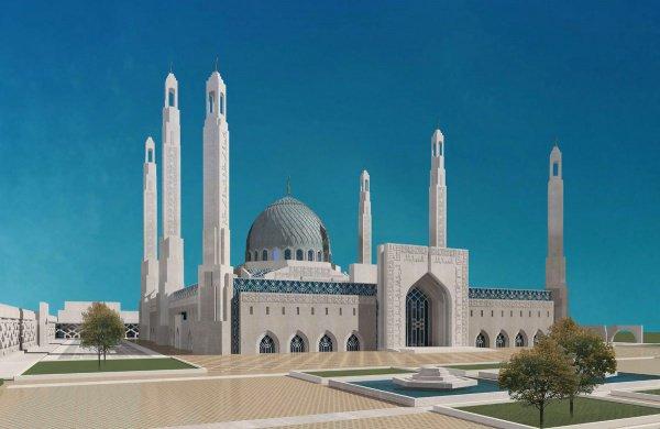Проект Соборной мечети в Магасе.