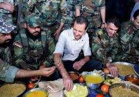 Башар Асад разделил ифтар с солдатами