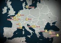 Опубликована карта погибших в терактах за последние 2 года