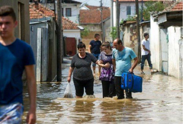 Мощная буря в Македонии