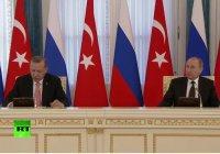 """Эрдоган Путину:""""Ваш звонок во время переворота в Турции меня очень обрадовал"""""""